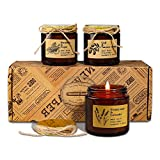 YMing Juego de Regalo de Velas Perfumadas, Cera de Soja 4.4 Oz Velas Regalo de Mujer con Aceites Ssenciales para Aromaterapia Regalo para el Día de San Valentín Día de la Madre - Paquete de 4 (3 pic)