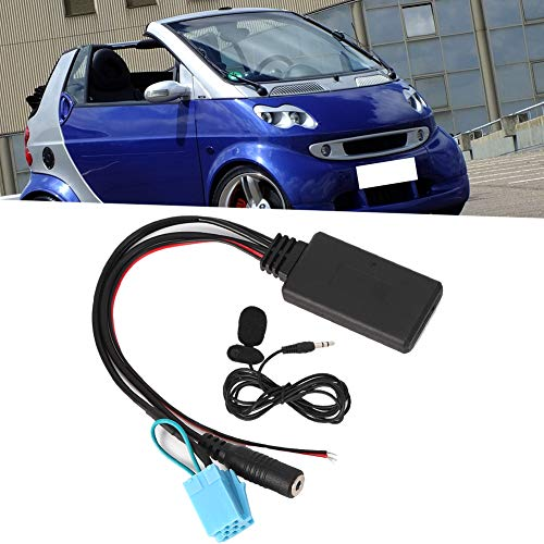 Antena de coche, adaptador de cable AUX-IN Bluetooth de 8 pines con micrófono para llamadas manos libres apto para 450