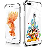 DISNEY COLLECTION Case for iPhone 8 Plus & iPhone 7 Plus, Mickey Mouse and Friends Ultra-Thin Shock-Absorbing Scratch-Resistant Hard PC + Flexible TPU Frame Clear Bumper Protective Cover Case