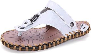 Men Sandals Sandals for Men Fashion Slipper ShoesOX Leather Amphibious Buckles Metaldecor Slip On Style Comfortable