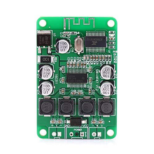 Changor Placa de Amplificador de Potencia, Amplificador de Potencia de Doble Canal Digital de 2,54 mm, Metal de Doble Canal de 3 Pines Hecho para Altavoz