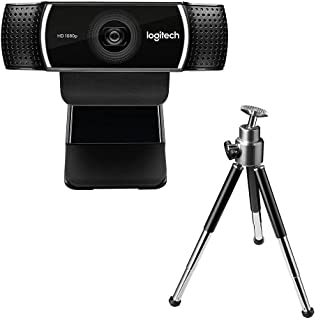 Logitech C922 Pro Full HD 1080p 30fps - HD 720p 60fps - Tripod Included - Serious streaming webcam