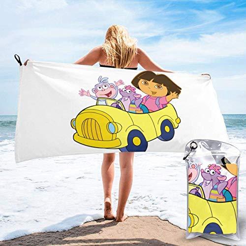 """Yuanmeiju - Toalla de baño de secado rápido para la toalla Dora The Explorer Lightweight Outdoor Beach Towel QuickDrying Lightweight Bathroom Towel 27.5""""X55"""" ✅"""