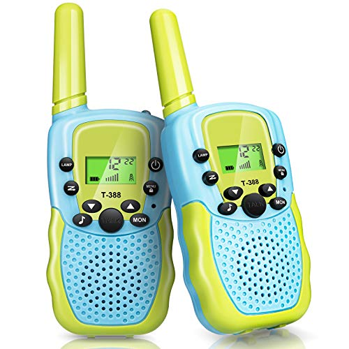 STENDA Walkie Talkies for Kids, 2PCS Toys for 3-12 Year Old Boys Girls, Ultra Long Distance Communication, Walkie Talkie with Backlit LCD, Flashlight, Camping, Hiking, Gifts for Kids