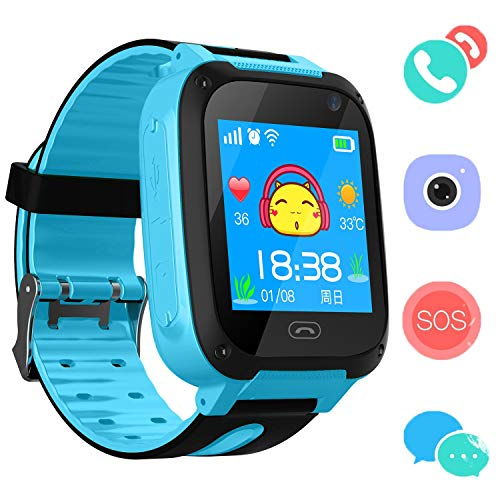 Reloj Niños Smart Watch Phone, LBS/GPS Tracker Smartwatch para Niños...