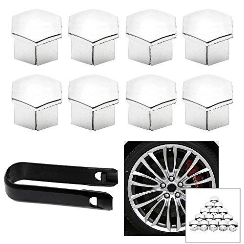 iTimo Radmutter Felgenabdeckung Reifen Schraubkappe Dekor für Peugeot 207 301 307 308 408 508 3008 für Citroen C4l C5 C2 16 Stück