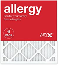 AIRx ALLERGY 18x20x1 MERV 11 Pleated Air Filter - Made in the USA - Box of 6