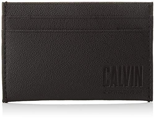 Calvin Klein - Ckj Slim Monogram Cardcase, Carteras Hombre, Negro (Black), 1x1x1...