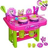 alles-meine.de GmbH große Kinderküche - incl. Zubehör ! -  Disney Minnie Mouse  - für Kinder - Geschirr & Töpfe - Spielküche aus Kunststoff / Plastik - Kochfeld / Tischküche - ..