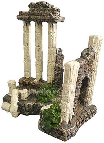 MZD Ancient Greek Temple Ruins Roman Aquarium Decorations Terrarium Ornament Decor Size: 11×7×12cm