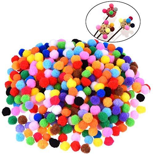 Xinlie Pom Pom Kugeln Pom Poms für Handwerk Herstellung Filzkugeln Bunt Pompons zum Basteln Mini Pom Poms Bälle Bunte Pompom für Kinder und Erwachsene Dekorieren Verzieren Nähen DIY Party (1000 Stück)
