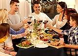Makos Edle Hussen für Bierzeltgarnituren 2er Set (50 x 220cm) wertet Jede Veranstaltung, Event, Catering, Party, Geburtstag, Konfirmation und Firmenfeier auf (Schwarz, 2) - 4