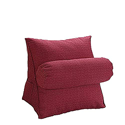 Film Adjustable Back Cushion Wedge Pillow,Sofa Bed Office Chair Rest Cushion,Neck Lumbar Back Support,Pearl Cotton Filling,Removable Washable