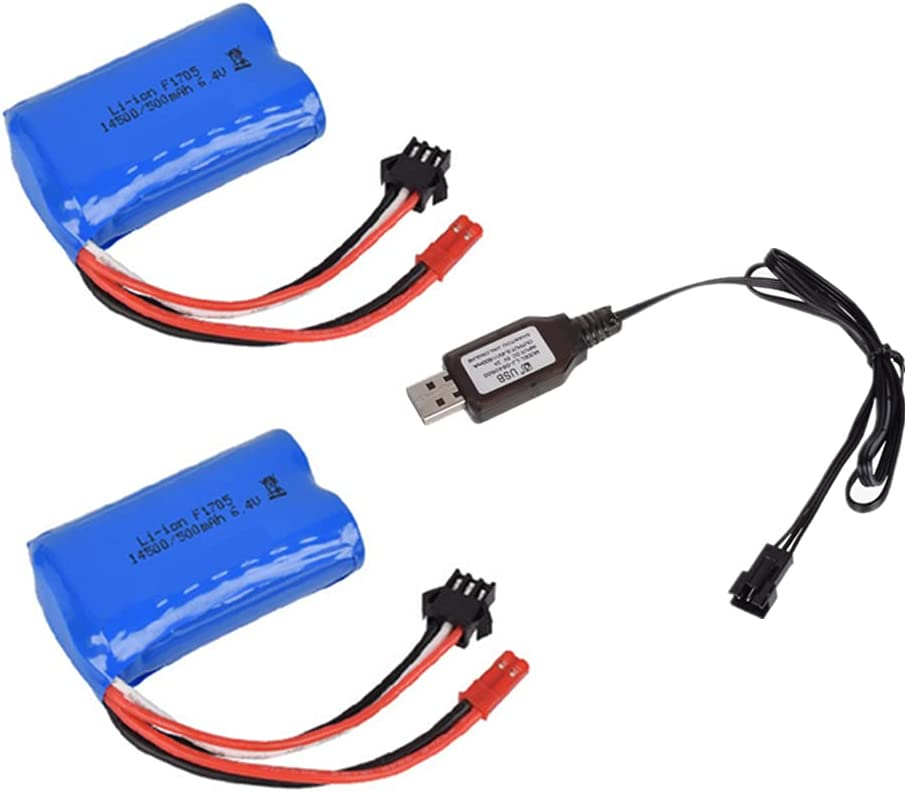 2 Pcs 6.4V 500mAh JST and Max 77% OFF SM3P Lithium with Double All items free shipping Plug Battery