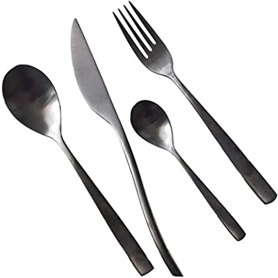 Sinngukaba Black 304 Cutlery Set Western Cutlery Stainless Steel Cutlery