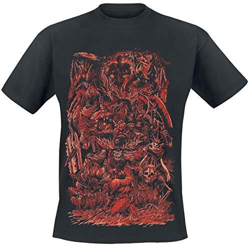 Dark Souls Berserker Hombre Camiseta Negro 3XL, 100% algodón, Regular