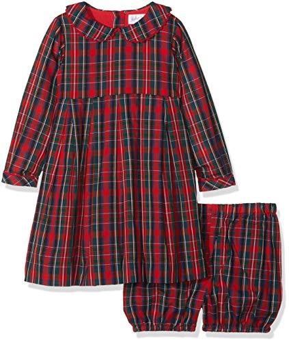 Rachel Riley Tartan Dress & Bloomers Vestido, Rojo (Red), 1 Año para Bebés