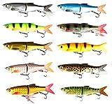 Savage Gear 3D Bleak Glide Swimmer Wobbler (13,5cm / 16,5cm / 20.5cm),Jerkbait, Jerk, Swimbait, Hechtköder, Angelköder, Kunstköder, Barschköder, Zanderköder, Köder für Hecht, Zander, Barsch, Länge / Gewicht:20.5cm / 85g, Farbe:Brown Trout