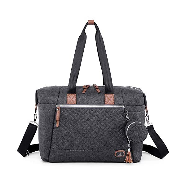 Diaper Bag Tote with Pacifier Case and Changing Pad, Dikaslon Large Travel Diaper...