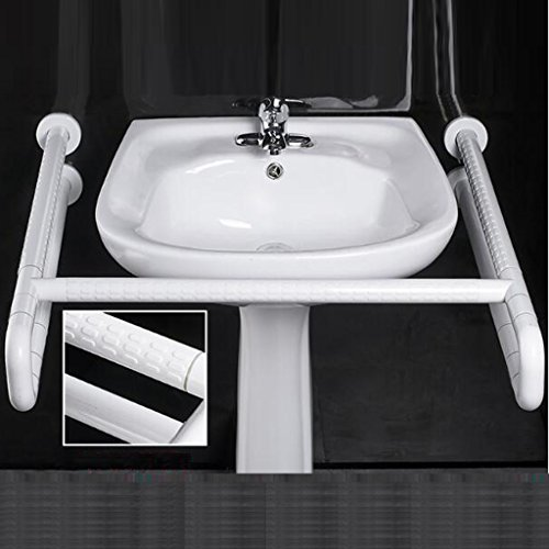 Cheapest Price! ZSPPPP Handrails White Stainless Steel Non-Slip Handrail, Bathroom Toilet Accessible...