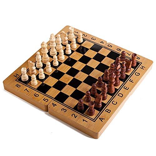 ZUOQUAN Juego de ajedrez - Backgammon y Damas 3 en 1 Completo, Plegable Y Fácil, Entretenimiento para Niños Y Adultos, Juego De Mesa Portátil Y Ligero, Ideal para Viajar,40 * 40CM