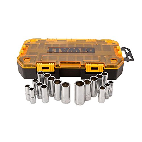DEWALT Deep Socket Set, 20-Piece, 3/8' Drive Metric/SAE (DWMT73812)