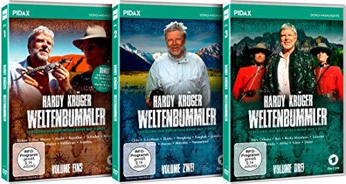 Hardy Krüger - Weltenbummler - Gesamtedition / Die komplette Reportage-Reihe auf 9 DVDs (Pidax Doku-Highlights)