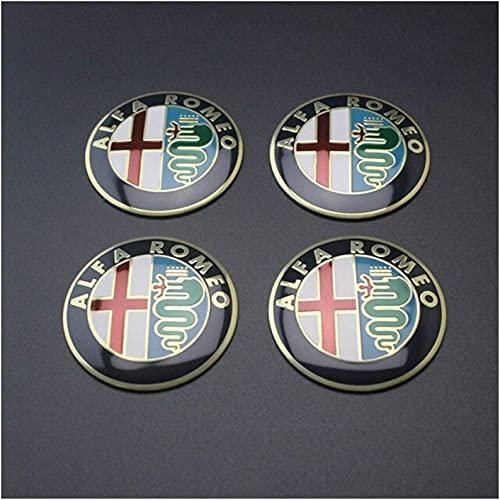 LZYYDS 4 Piezas Tapas Centrales Rueda para Alfa Romeo GT,Aluminio Coche Tapacubos Centra,Tapas Centrales De Llantas Pegatinas El óXido con El Logo,DecoracióN Coche 5.6cm 50mm