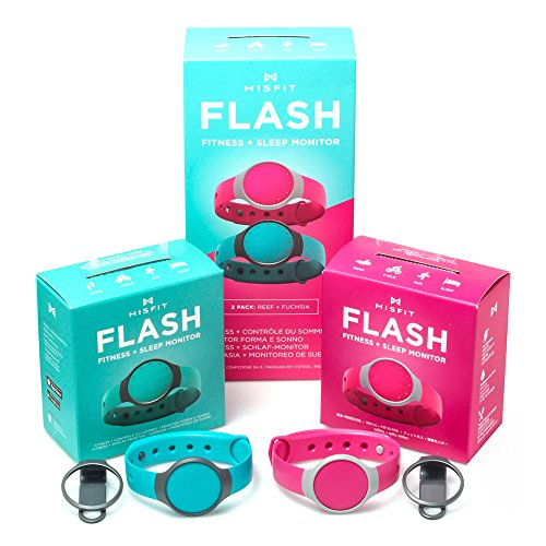 Misfit Flash 2パックReef And Fuchsia l1 Activity Tracker Fitness Band