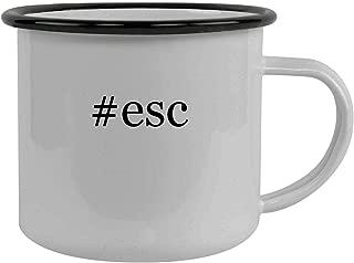 #esc - Stainless Steel Hashtag 12oz Camping Mug, Black