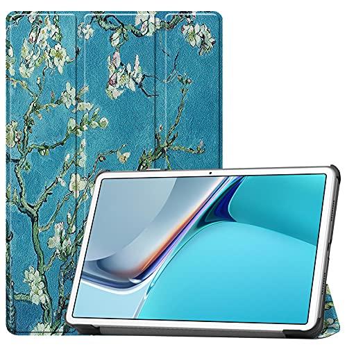 SENSBUN Funda para tablet Lenovo Tab Pro (11,5 pulgadas), funda de silicona de ajuste delgado a prueba de golpes Folio cubierta de pie, flor de albaricoque