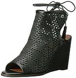 Lucky Brand Sandalias de cuña Riskee para mujer, color Negro, talla 35.5 EU