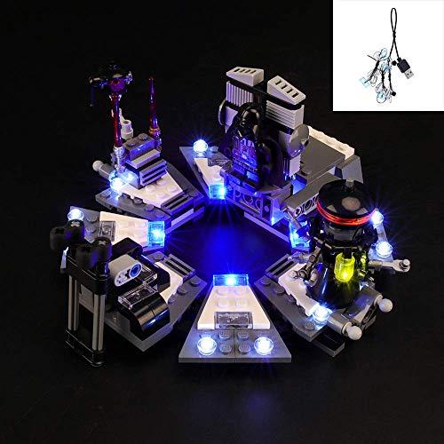 YLJJ Juego de Luces LED USB DIY Compatible con Lego Star Wars Darth Vader Transformation 75183, Kit de Luces LED para Bloques de construcción Modelo niños (No Incluido el Modelo)