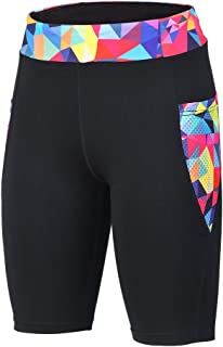 beroy Women's Activewear Shorts Yoga Workout Pants High Waist Training Running with Two Side Pockets