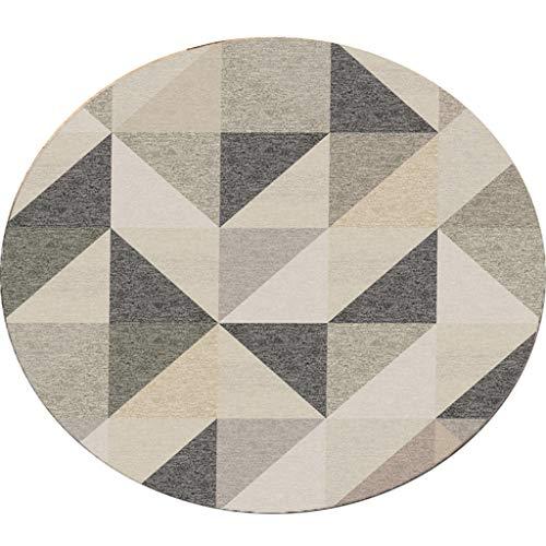 JCOCO Tapis Rond de Style européen de géométrie fraîche Facile à Nettoyer la saleté décoloration (Couleur : #4, Taille : 60 * 60cm)