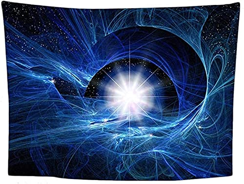 Tapices decorativos Tapicer Earth Tapic Tapic Wall Art Hombres Decoración del dormitorio - Vía Láctea Cubierta de la cama de la cama CUBIERTA CUBIERTA DE LA CUBIERTA - Tapas estelares azules / púrpura