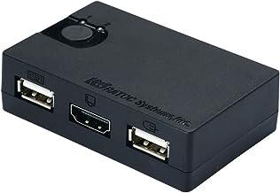 ラトックシステム HDMIディスプレイ/USBキーボード・マウス シンプル切替器(2台用) REX-230UH