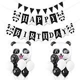 Suministros de decoración para fiestas de cumpleaños, temática de panda y globos de látex para niños, fiestas de cumpleaños, guardería, dormitorio