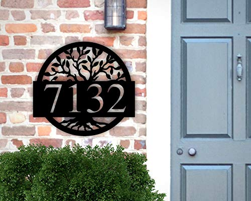 Address Sign Custom Metal House Numbers Plaque Housewarming Gift Outdoor Decor