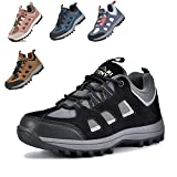 MARITONY Unisex-Child Hiking Shoes for Kids Sneakers Boys Girls Anti Collision Outdoor Running Athletic Shoe Non-Slip Sneaker Black