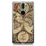 CASEiLIKE Nokia 8 Sirocco Hülle, Nokia 8 Sirocco TPU Schutzhülle Tasche Case Cover, Weltkarte Weinlese 4607, Kratzfest Weich Flexibel Silikon für Nokia 8 Sirocco