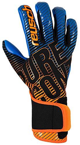 Reusch Pure Contact III S1 Goalkeeper Glove, Size 8, Black/Blue/Orange