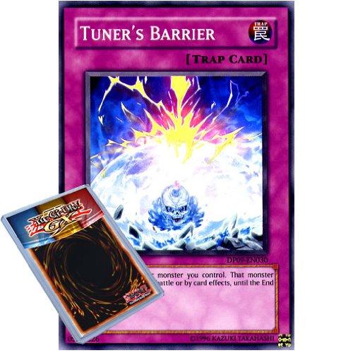 YuGiOh : DP09-EN030 1st Ed Tuner's Barrier Super Rare Card - ( Yusei 2 Yu-Gi-Oh! Single Card )
