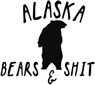 Creative Concepts Ideas Alaska Bears and Shit Funny CCI Decal Vinyl Sticker|Cars Trucks Vans Walls Laptop|Black|7.5 x 5.5 in|CCI2534