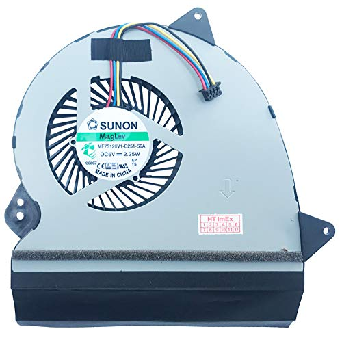 Ventilador de refrigeración compatible con Asus ROG G552JX, GL552J, GL552JX, GL552V, GL552VL, GL552VM, GL552VW, GL552VX, ZX50J, ZX50JX, ZX50V, ZX50VW, ZX50VX