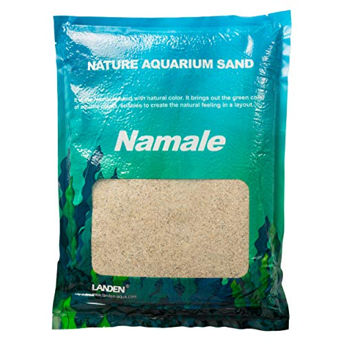 Landen Namaule Sand 5kg (11 lbs.), Super Natural for Aquarium Landscaping, Cosmetic Sand for Plant Tank, Natural River Sand for Freshwater or Blackwater Biotope Tank(NS-001)