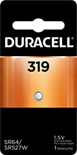 Duracell – 319 1.5V Silver Oxide Button Battery – long-lasting battery – 1 count