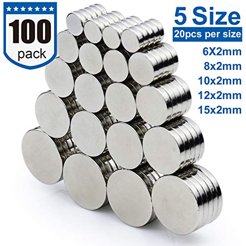 DIYMAG Refrigerator Magnets for Office, Hobbies, Crafts and Science, Round Ceramic Industrial Ferrite Magnets, Push Pin Magnets, Fridge Magnets, Whiteboard Magnets