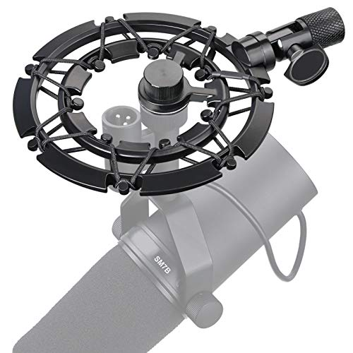 Shure SM7B Shock Mount Reduces Vibration Noise Matching Mic Boom Arm Stand, Compatible for Shure SM7B Mic by YOUSHARES