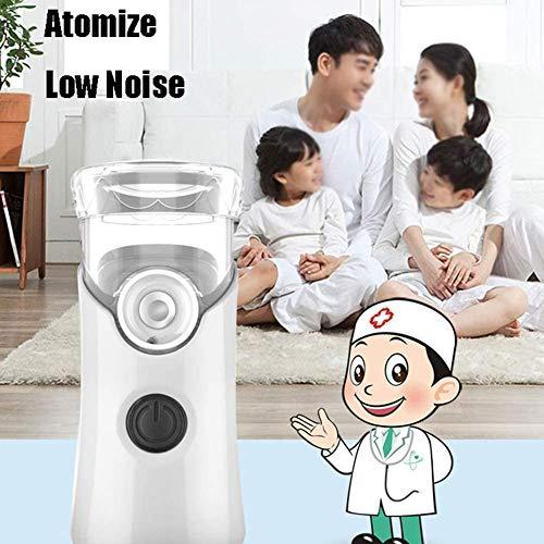 YANGSANJIN - Inhalador de vapor portátil de mano, humidificador ultrasónico Fine Grain, resistente al agua, silencioso, 2 niveles de carga, USB, para viajes o en casa, para uso diario, color blanco